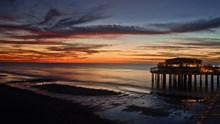 海边黄昏晚霞风景图片大全