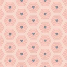 心形图案粉色背景图片大全