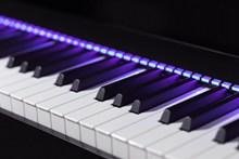钢琴键特写精美图片