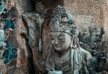 观音菩萨石雕像图片大全