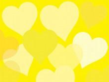 卡通爱心黄色背景图片素材