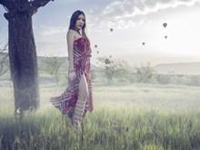 大胆人体美女户外写真摄影精美图片