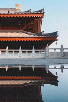 中国风燕尾房建筑图片下载