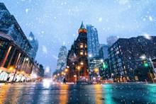 城市下雪唯美夜景 城市下雪唯美夜景大全图片素材