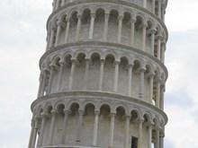 意大利比萨斜塔高清图片素材