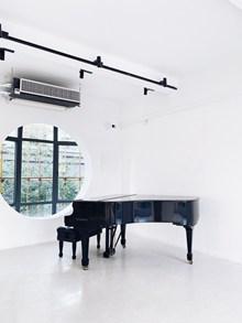 黑色典雅三角钢琴图片大全