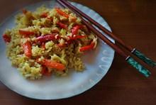 美味红萝卜炒饭图片