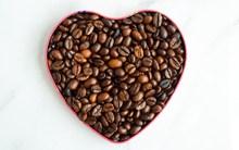 咖啡豆心形素材图片素材