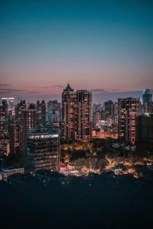 城市夜景灯光风景图片素材