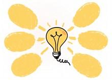 黄色灯泡创意思维图图片大全