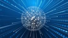 蓝色网络科技背景精美图片