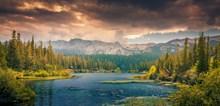 树林湖泊唯美风景精美图片