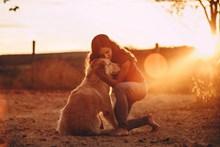 狗和人写真图片下载