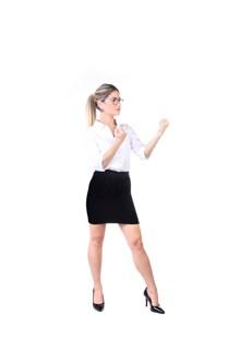 白色衬衫小黑裙美女图片大全