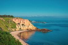 蓝色海岸线风景图片大全