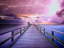 电闪雷鸣唯美意境高清图片