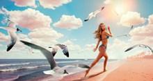 海边性感女郎画报图片下载