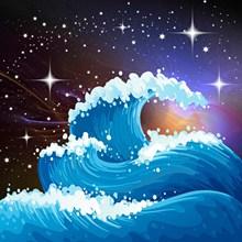 星辰大海卡通图片