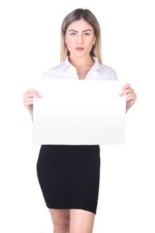 黑色包臀短裙美女举牌照图片大全