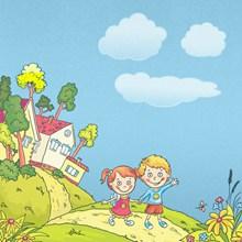儿童卡通插画精美图片