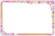 彩色花朵边框图片