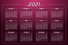 2021年日历图片大全