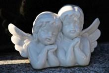 白色天使摆件图片下载