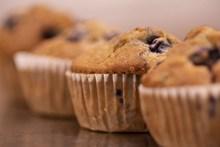 松饼小蛋糕摄影高清图