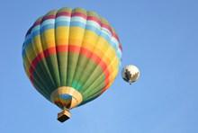 七彩热气球飞升精美图片
