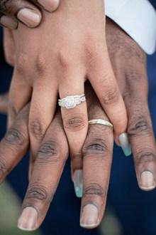 无名指上戴着戒指的夫妇精美图片