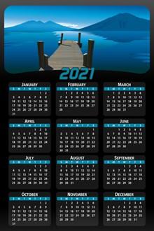 2021年日历表图片素材