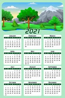 2021年年历高清图片