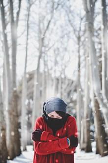 唯美冬季意境美女精美图片
