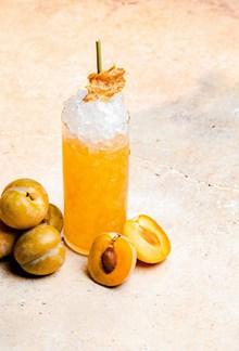 黄色沙冰饮品图片素材