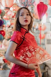 中国风旗袍美女写真高清图片