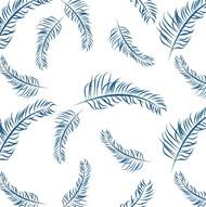 蓝色羽毛背景免抠素材精美图片