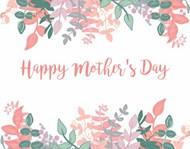 母亲节花边背景图片素材