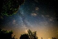 唯美夜晚星空图片