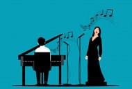 钢琴演奏歌唱会卡通图片大全