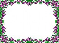 紫罗兰边框背景图片素材