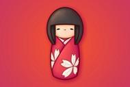日本娃娃桌面壁纸图片下载