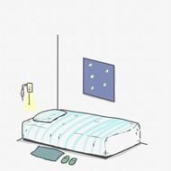卡通床铺插画图片下载