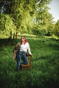绿色春天欧美风美女摄影图片素材