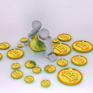 3D小人和比特币图片素材
