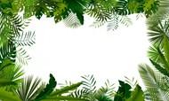 绿叶边框图案背景图片素材