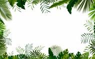 绿叶边框背景素材高清图片