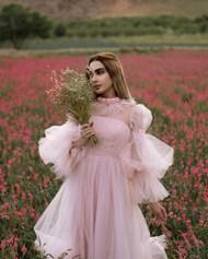 花海粉色少女风美女摄影高清图片
