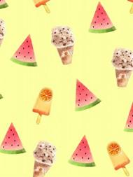 夏日卡通水果冷饮背景高清图片