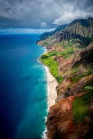 唯美蓝色海岸风光图片下载