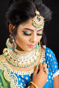 印度妆容高清图片